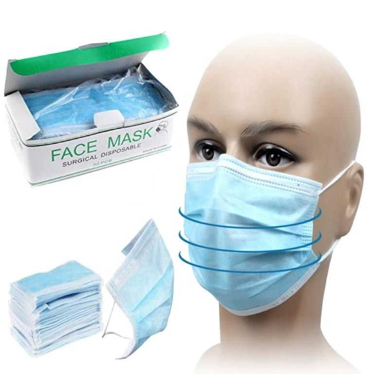 Skin Friendly Three Ply Disposable Medical Face Mask