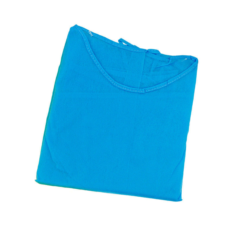 Blue Color Non Sterile 50g Non Woven Disposable Gown
